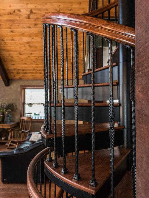 Escalera De Madera Rustica Cheap Hecho En Casa Interior De Madera - Escaleras-rusticas-de-interior