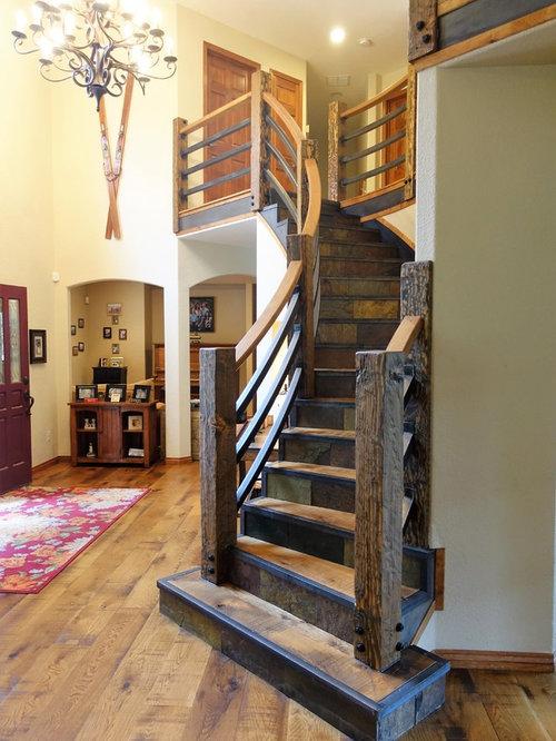 Escaleras Rusticas Escaleras De Madera Rusticas Com Stair Baldosas - Escaleras-rusticas-de-interior