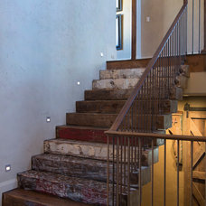 Rustic Staircase by Collaborative Design Group-Architects & Interiors