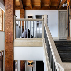 Rustic Staircase by d'apostrophe design, inc.