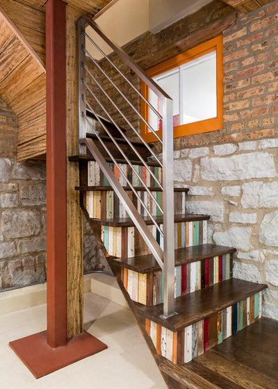 Rústico Escalera Rustic Staircase