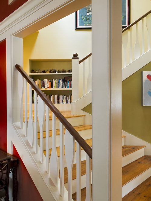 Superb Mountain Style Wooden Wood Railing Staircase Photo In Burlington