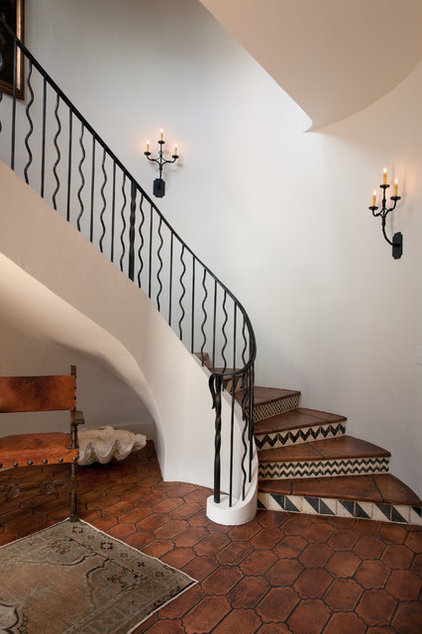 Rustic Staircase by Thomas Thaddeus Truett Architect
