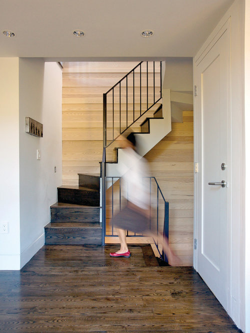 Marvelous Houzz Small Spaces Part - 14: Modern Wooden Staircase Idea In Boston