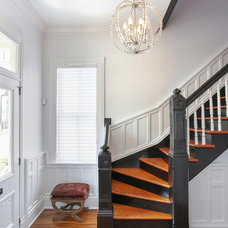 Transitional Staircase by Advanced Window Fashions