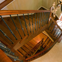 eclectic staircase by HBF plus Design