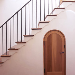 mediterranean staircase by RYAN ASSOCIATES GENERAL CONTRACTORS