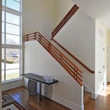 Contemporary Staircase by Jill Cohen Interior Design LLC
