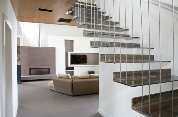 Contemporary Staircase by Ber Murphy Photography