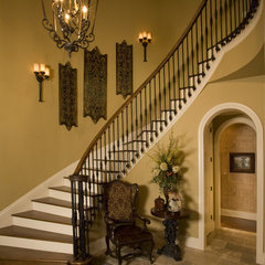 traditional staircase by Sam Allen Custom Home Design