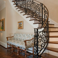 Mediterranean Staircase by William W. Stubbs and Associates