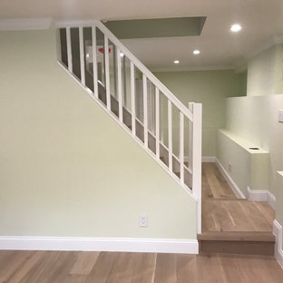 Staircase - transitional staircase idea in San Francisco