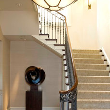 Traditional Staircase by C Wright Design
