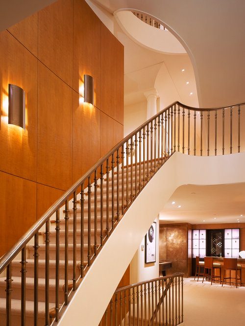 Staircase Wall Home Design Ideas Pictures Remodel And Decor