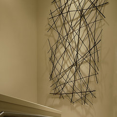 asian staircase by Michael Merrill Design Studio, Inc