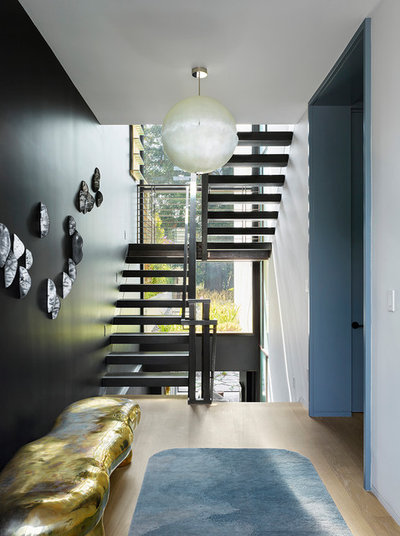 Contemporary Staircase by Jamie Bush & Co.