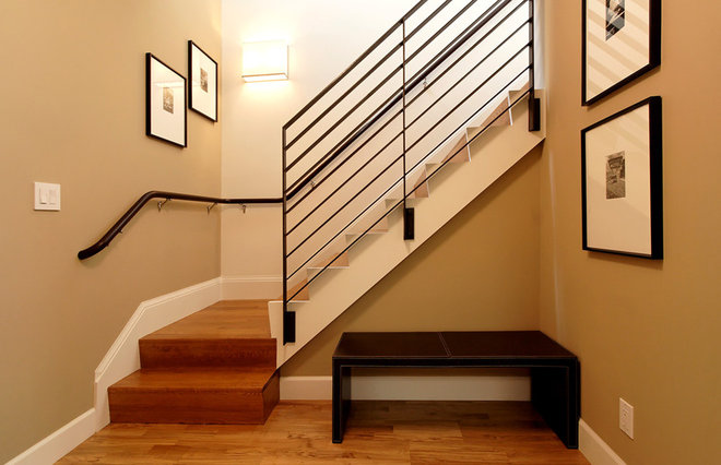 Contemporary Staircase by Dijeau Poage Construction