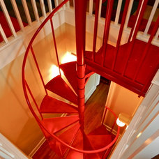 Eclectic Staircase by Lendry Homes