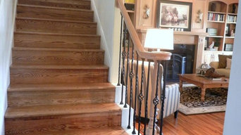 Sand and Finish, Install Wood on Staircase