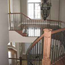 Traditional Staircase by Dwelling on Design, Deborah Derocher