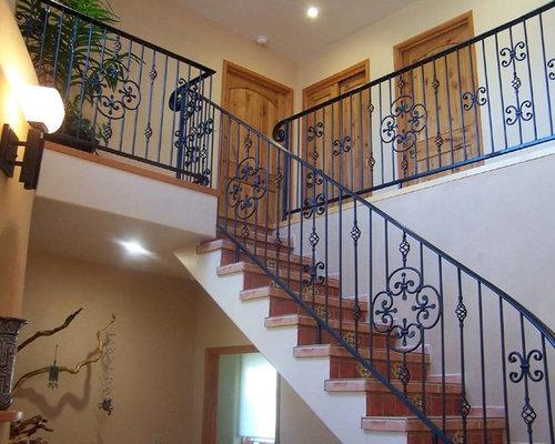 photos et id es d co d 39 escaliers sud ouest am ricain. Black Bedroom Furniture Sets. Home Design Ideas