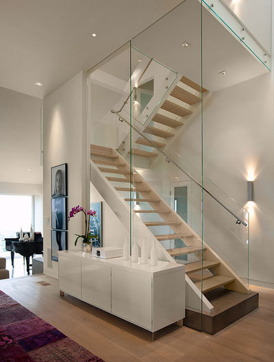 Contemporary Staircase by Lori Smyth Design