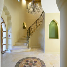 Mediterranean Staircase by Louie Leu Architect, Inc.