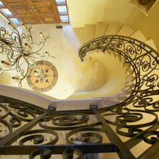 Eclectic Staircase by Louie Leu Architect, Inc.