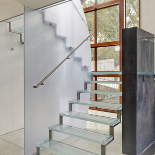 Inspiration for a contemporary open staircase remodel in San Francisco
