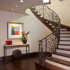 Mediterranean Staircase by Mehus Construction