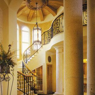 マイアミの地中海スタイルのおしゃれな階段の写真