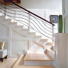 Eclectic Staircase by Peninsula Architects