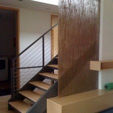 Modern Staircase by Randall Mars Architects