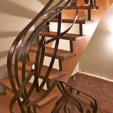 Eclectic Staircase by Iron & Wire LLC