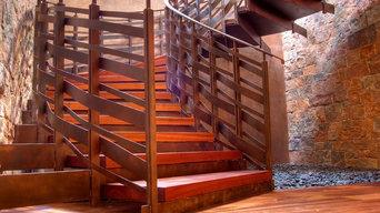 Sculptural Elliptical Grand Staircase
