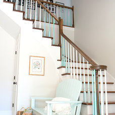 Beach Style Staircase by Kristie Barnett, The Decorologist