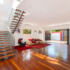 Contemporary Staircase by SEQ Building Design