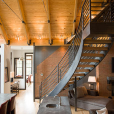 Contemporary Staircase by The Stratford Companies