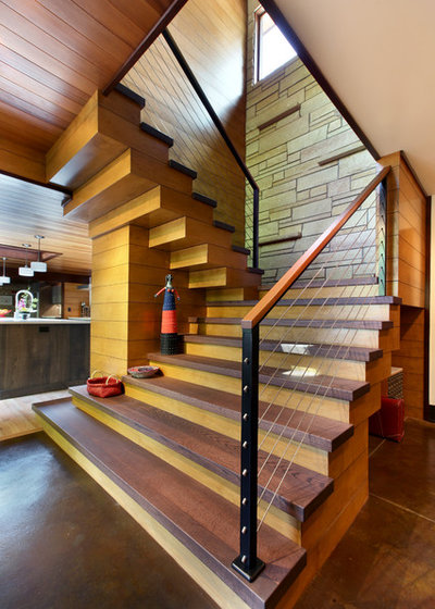 Rustic Staircase by Scott Christopher Homes