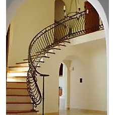 Mediterranean Staircase by SFJones Architects, Inc.