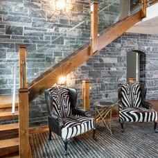 Transitional Entry by Steffanie Gareau Interior Design