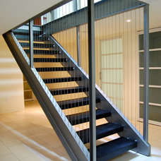Contemporary Staircase by Wiebenson & Dorman Architects PC