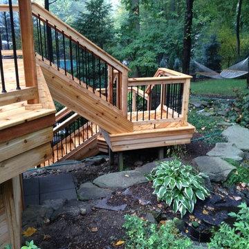 Shelby Twp. MI Cedar deck project