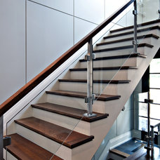 Modern Staircase by Sherwood Custom Homes