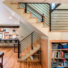 Contemporary Staircase by Damon Searles Photography