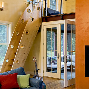 Example of a trendy staircase design in Burlington
