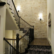 Mediterranean Staircase by Distinctive Homes by J&K Properties, Inc.