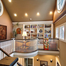 Traditional Staircase by Dan Nelson, Designs Northwest Architects