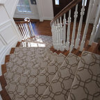 Curving Stair Runner Modern Staircase Ottawa By