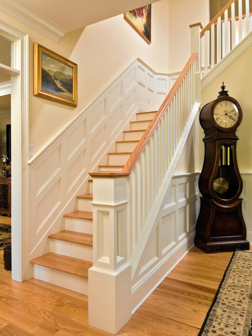 best wainscoting stairs design ideas remodel pictures